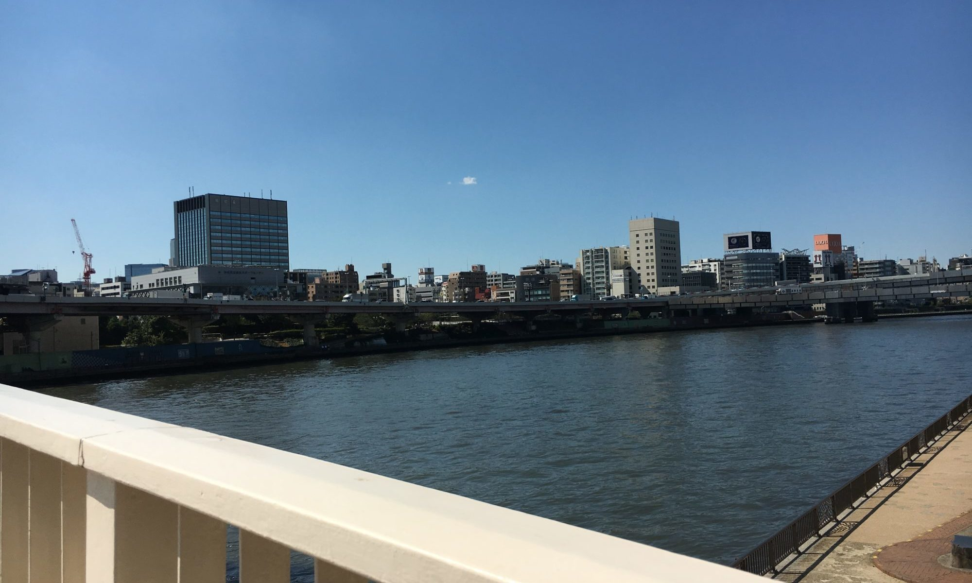 隅田川でのワンショット撮影