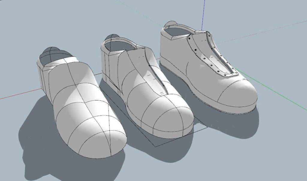 安全靴モデリング