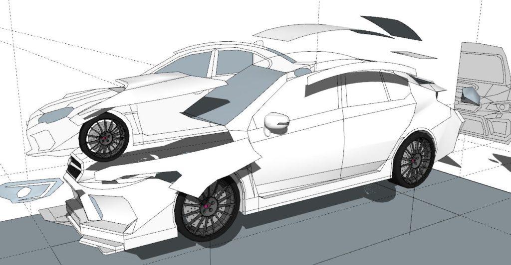 スバルS4モデリング