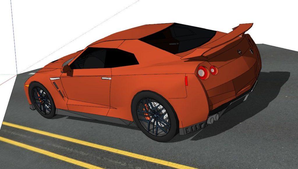 GTR E35 モデリング