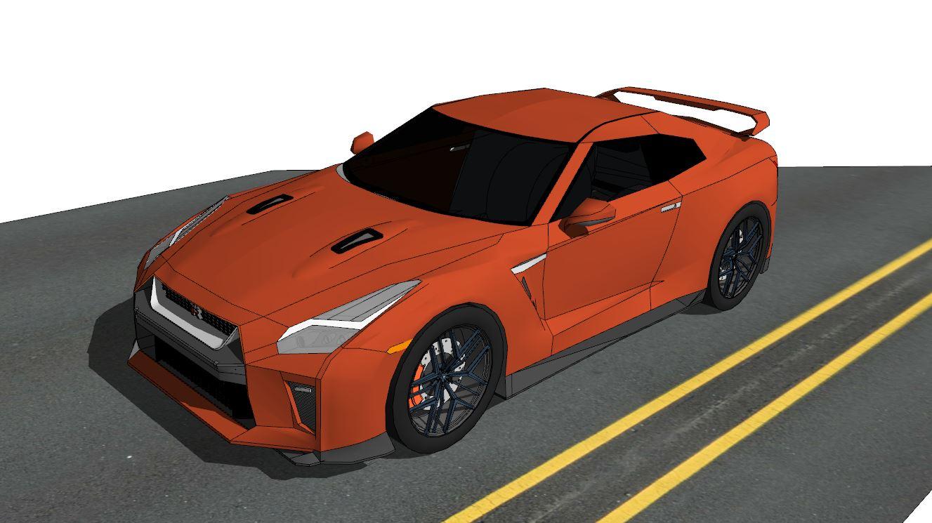 GTR R35 モデリング