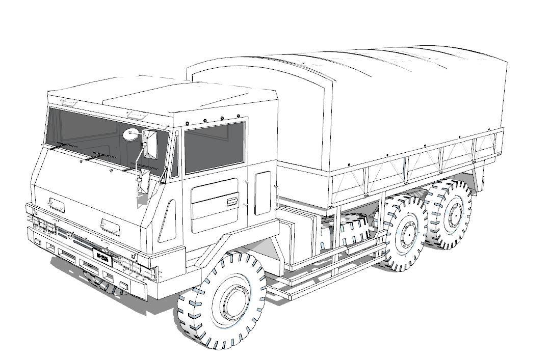 自衛隊1/2トラック