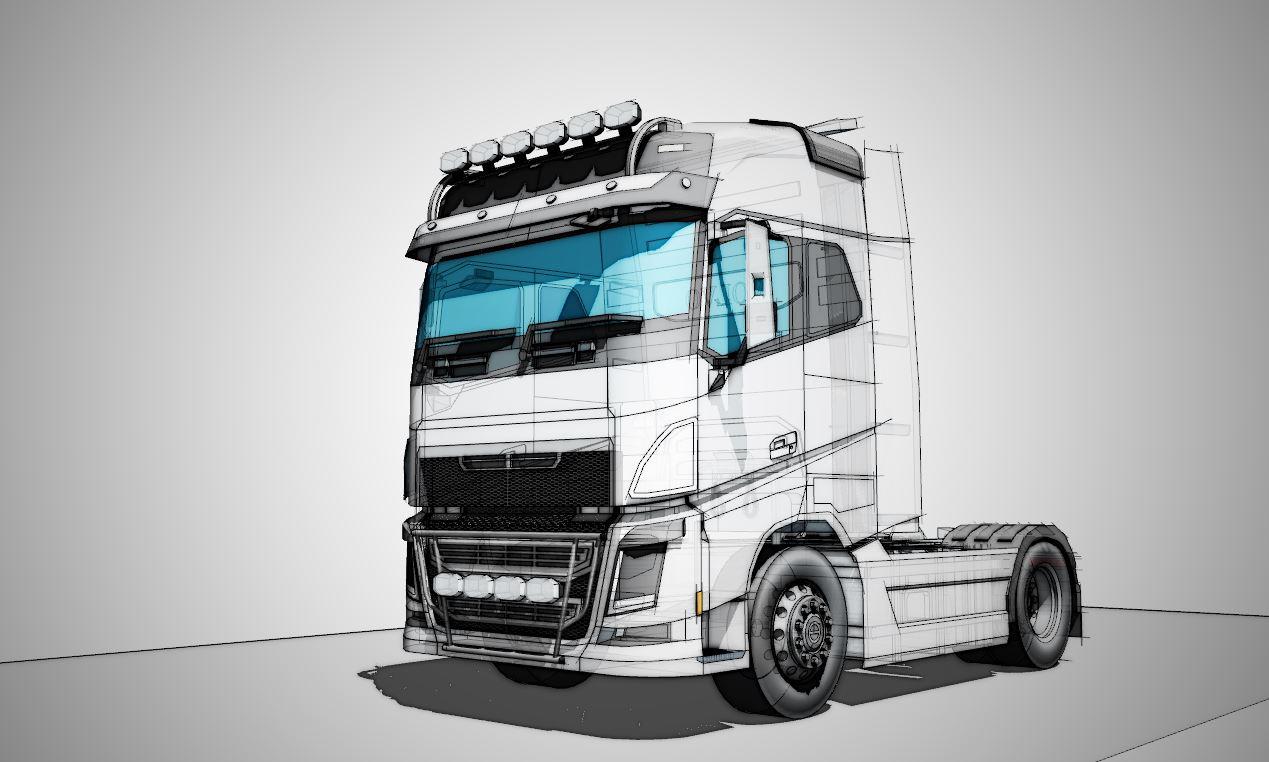 volvo truck modeling