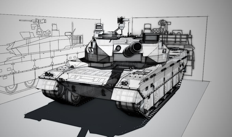 10式戦車modeling