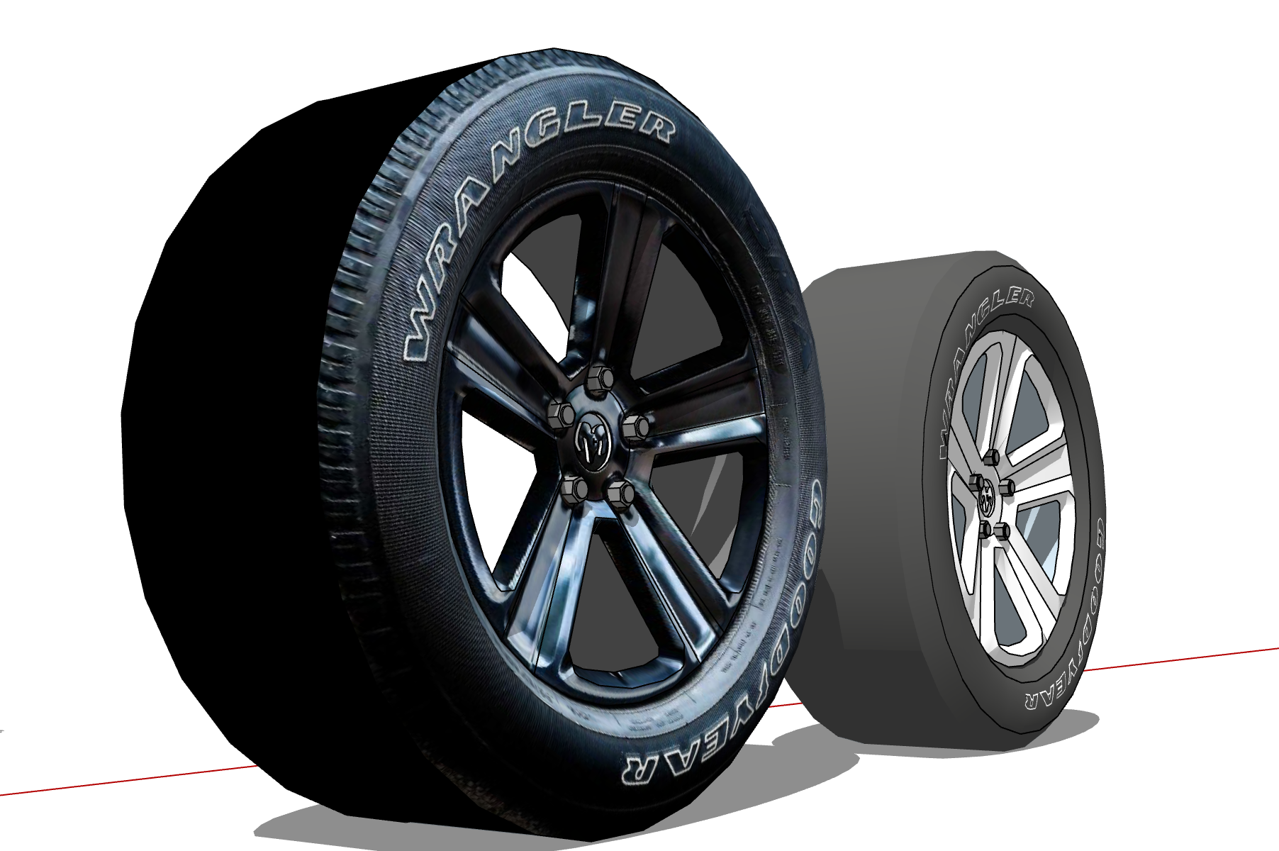 modeling tire(Dodge Ram)