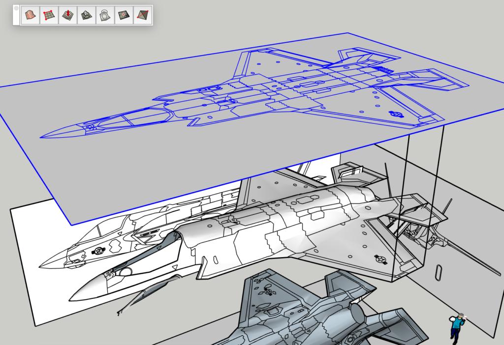 Sketch Upで上面をドレープ処理