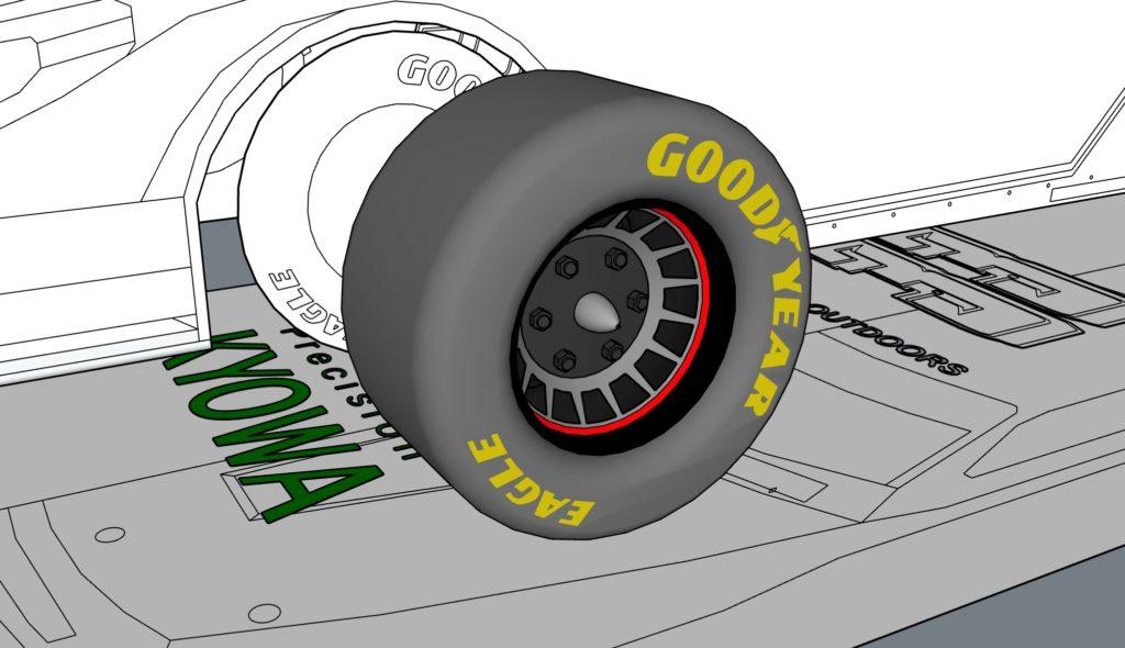 タイヤのモデリング