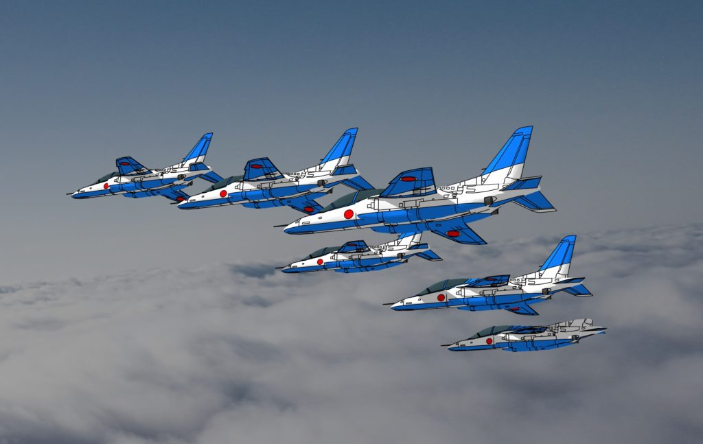 blue impulse modeling 3